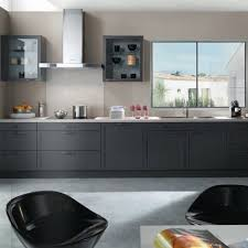 cuisine gris foncé decoration cuisine plan de séduisant meuble de cuisine gris