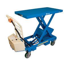 bishamon mobilift battery operated lift table capacity 660 lbs