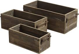 buy wooden storage boxes with handles and 2 section
