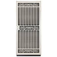 Fireplace Screen Doors Home Depot by Unique Home Designs 36 In X 80 In Sylvan White Surface Mount