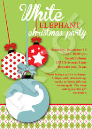 paper perfection white elephant christmas party invitation