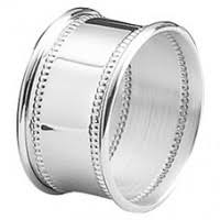 wedding silver napkin rings engravable