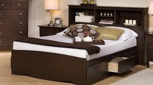 stylish finn cherry full size bookcase headboard captains bed full