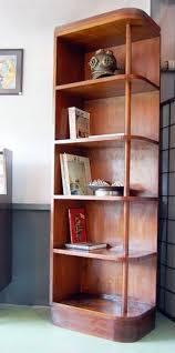 60 in tall distressed corner shelf bookcase display by oaknacorn