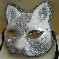unpainted masks cat mask unpainted plain blank version paper pulp
