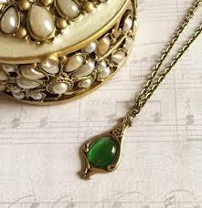 antique emerald necklace images Emerald necklace pendant antique style pendant emerald green etsy jpg