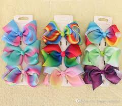 bobbles hair jojo 9cm pastel flora ombre rainbow ribbon hair bows