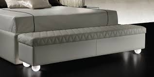 double bed with high headboard and legs in murano glass rialto
