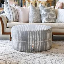 circle ottoman table camino conch u2013 tonic living