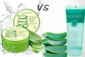 Wardah Gel pilih mana nature republic vs wardah hydrating aloe vera gel