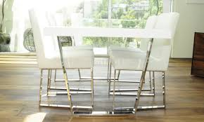 White Modern Dining Room Sets Espresso Or White Modern Dining Table W Metal Legs