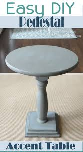 remodelaholic diy pedestal accent table