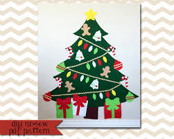 felt tree digital pattern no sew diy printable pdf