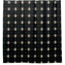 Black Gold Curtains Fleur De Lis Curtains Black Gold Curtain Shower Curtain Black