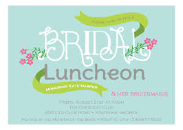 bridal lunch invitations and modern bridal shower invitations