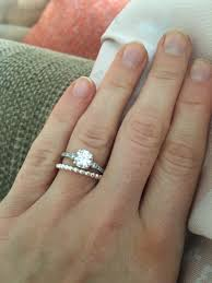wedding band ideas wedding band set ideas with solitaire with size bezel set