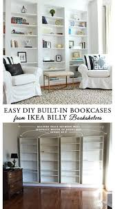 Ikea Discontinued Bookshelf How To Build Diy Built In Bookcases From Ikea Billy Bookshelves
