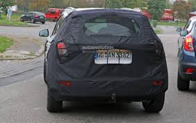 opel mokka trunk spyshots 2016 opel mokka facelift getting led headlights