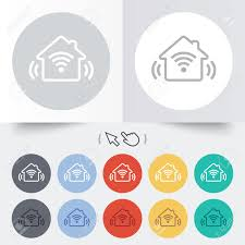 home automation icon black stock photos royalty free home