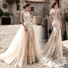 vintage wedding dress robe de mariage new vintage wedding dress 2017 sheer neck cap