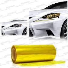 lexus yellow headlights gloss yellow headlights taillights fog lights tint film wrap 12
