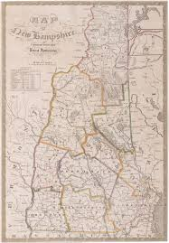 New Hampshire State Map by Rare Final State Of Lewis Robinson U0027s