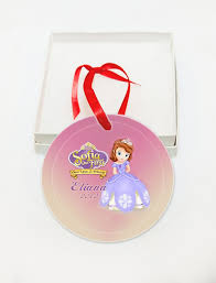 personalized princess sofia glass ornament custom gift
