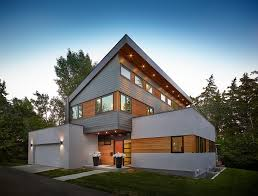 modern house roof deck exterior contemporary with flat roof spring