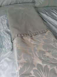 duck egg blue damask bedding including double duvet set valance