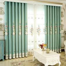Floral Curtains Mint Room Darkening Luxury Floral Curtains Panels
