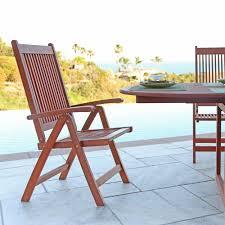 Folding Patio Chairs With Arms Vifah Roch Eucalyptus Folding Patio Armchair A3485 145 5 11 The