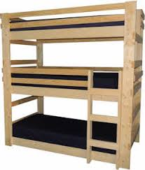 three bunk beds bunk beds for youth teen college and adults made in usa