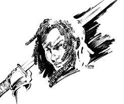 michonne the walking dead sketch by aminamat on deviantart