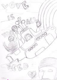 yellow submarine free coloring pages on art coloring pages