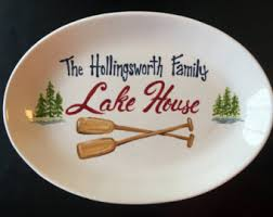 personalized family platters personalized family platter handpainted 13 inch oval family