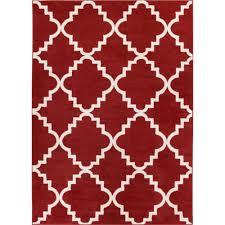 Terracotta Area Rugs by Well Woven Sydney Lulu U0027s Lattice Trellis Terracotta 7 Ft 10 In X