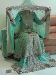 pakistani bridal dress mint green bridal tani pinterest