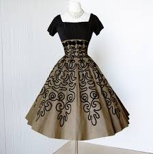 vintage 1950 u0027s dress gorgeous golden bronze soutache pleated