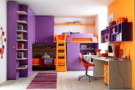 chambre violet et ado fille couleurs violet et orange