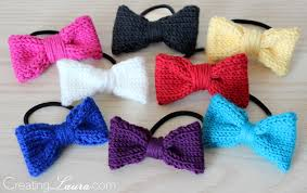 different types of hair bows creating hair bow knitting pattern