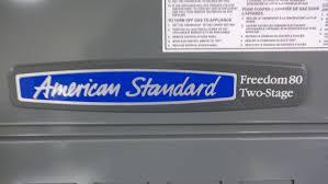 american standard 80 80 000 btu downflo 2 stage gas furnace