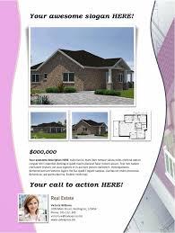 real estate flyer template 2 u2013 pink