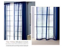 dark blue europe style punching sheer curtain balcony bedroom