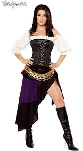 Gypsy Halloween Costume Deluxe Gypsy Mistress Costume Purple Gypsy Costume Deluxe