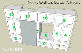 How To Build A Wall Cabinet by How To Build A Pantry Wall With Barker Cabinets