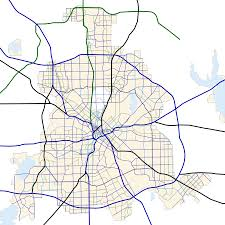 Map Of Dallas by File Dallas Texas Road Map Svg Wikimedia Commons