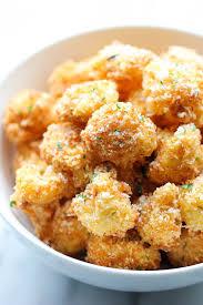 Fried Parmesan Parmesan Cauliflower Bites Damn Delicious