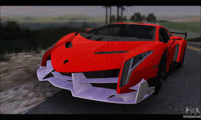 Lamborghini Veneno Red - lamborghini veneno for gta san andreas