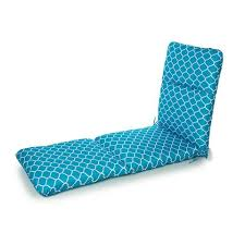 High Back Patio Chair Cushion Outdoor Highback Patio Sunlounge Cushion Teal Kmart