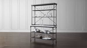 Bakers Racks For Kitchens French Kitchen Bakers Rack With Hutch Crate And Barrel